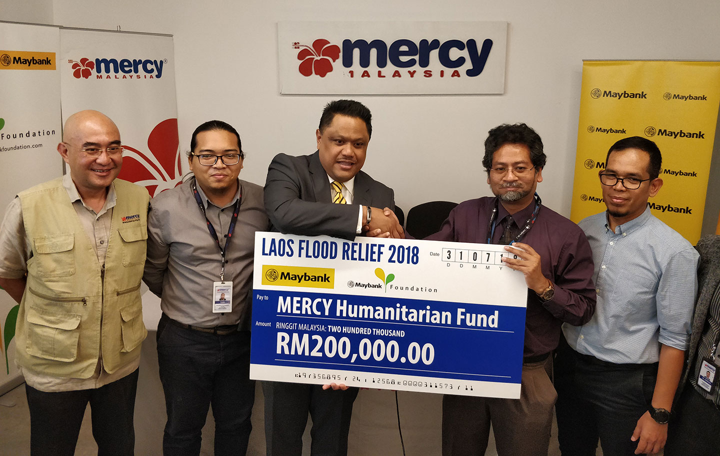 Maybank Donates RM 200,000 to Laos Flood Relief