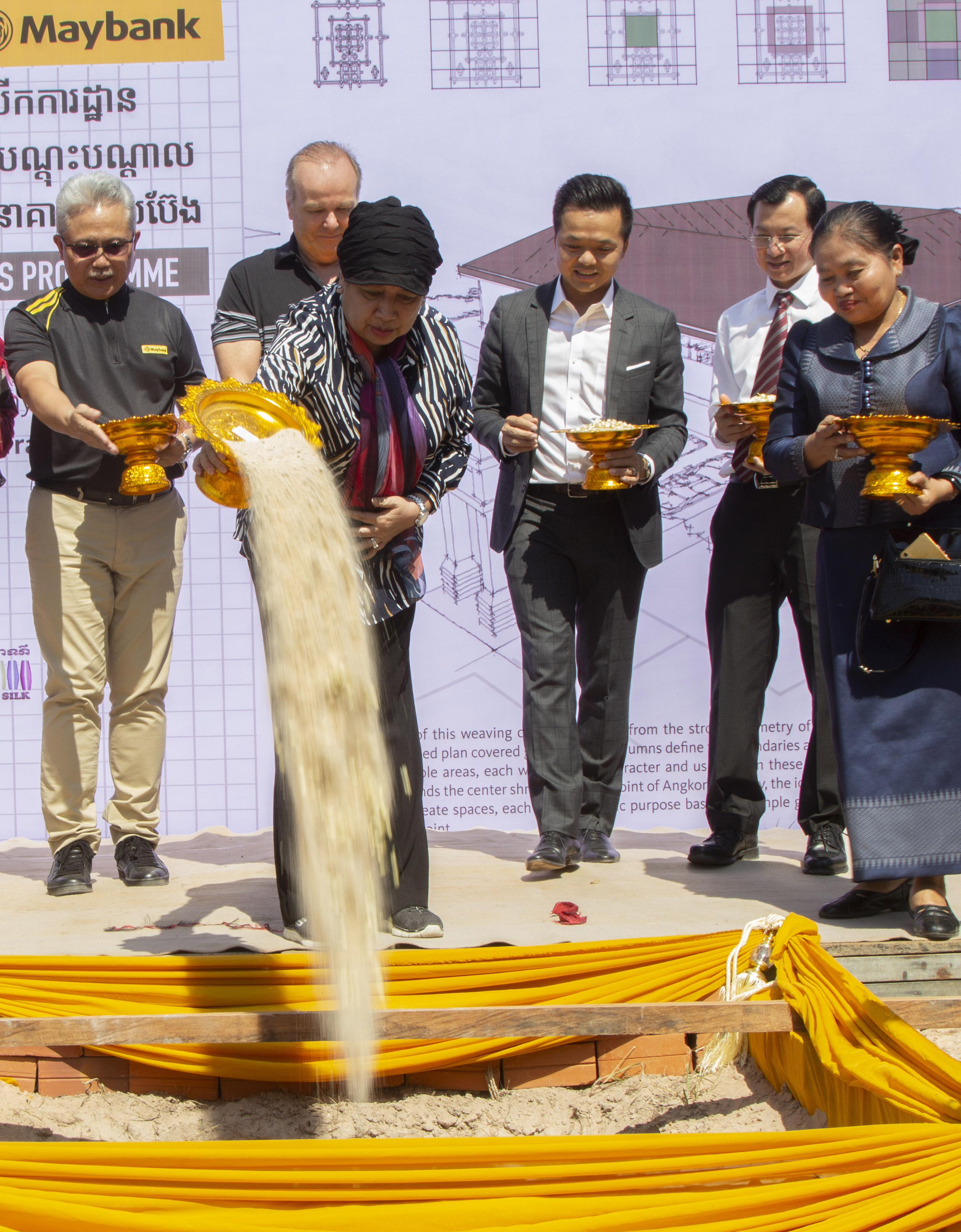 Maybank Builds New Silk Weaving Training Centre in Cambodia
