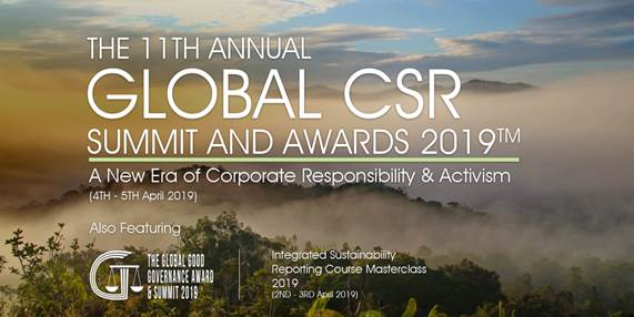 Maybank Receives Highest Award At 11th Annual Global CSR Summit & Awards On 4th April 2019